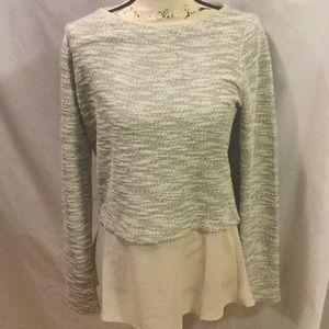 White House black market gray sweater size s